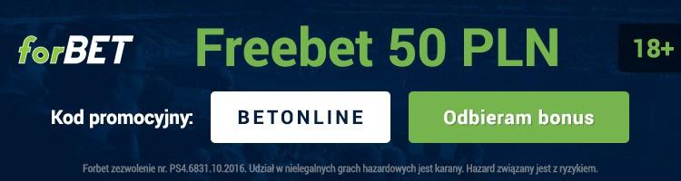 forbet kod promocyjny. Bonus 50 PLN!