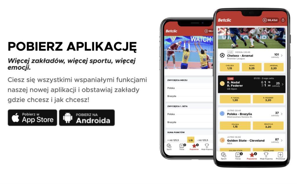 Betclic aplikacja w Polsce