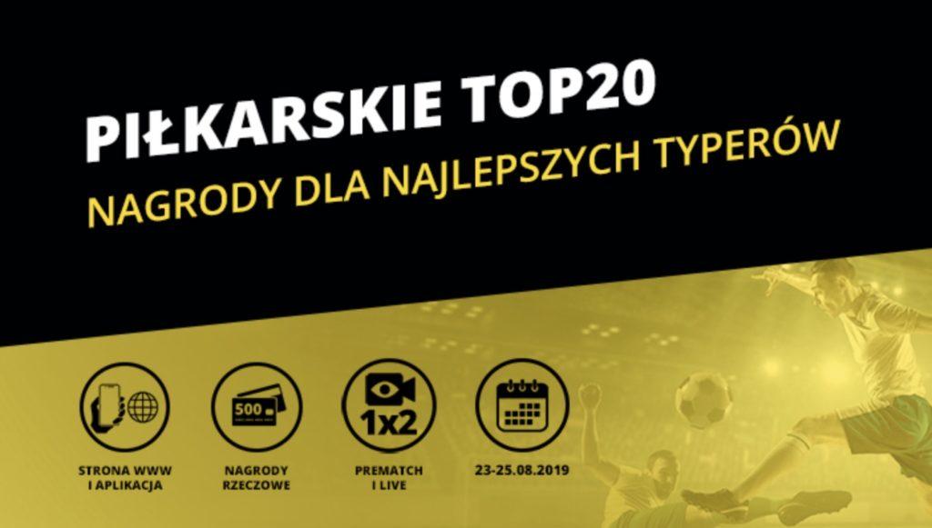 Fortuna na weekend, czyli piłkarskie TOP 20 z nagrodami!