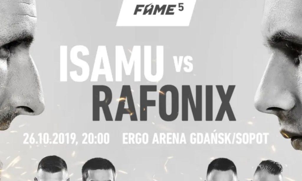 FAME MMA 5 walki. Podajemy rozpiskę pojedynków! Ergo Arena, 26.10.2019, godzina 20