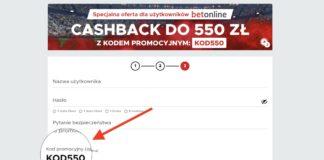 Największy cashback w Polsce? Betclic kod promocyjny KOD550 to nawet 550 PLN!