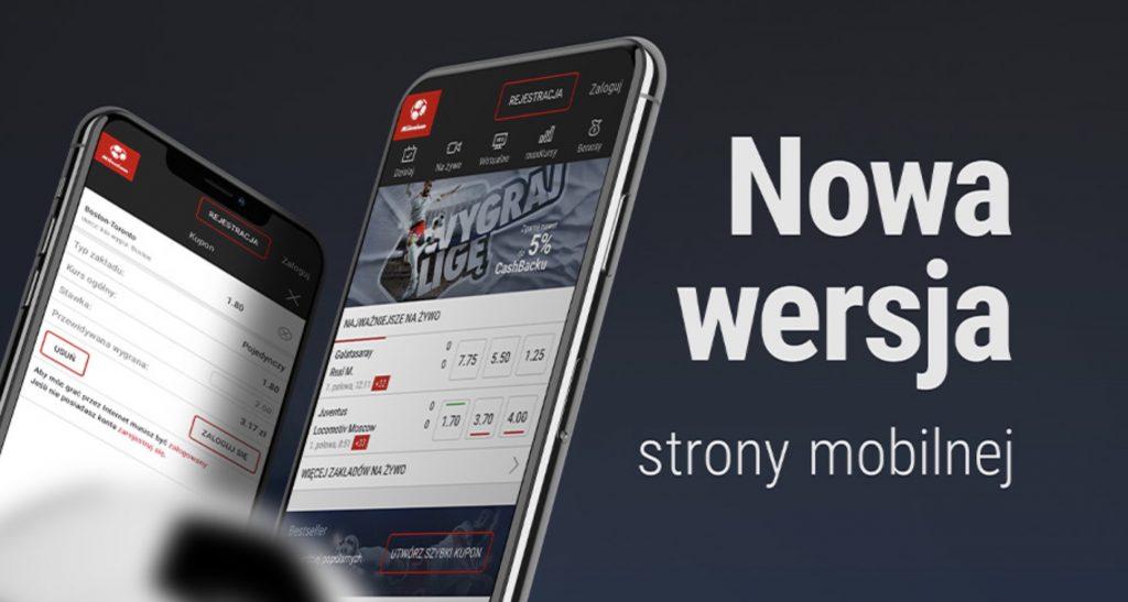 Bukmacher Milenium na telefon. Jak lepiej grać - aplikacja czy strona WWW?