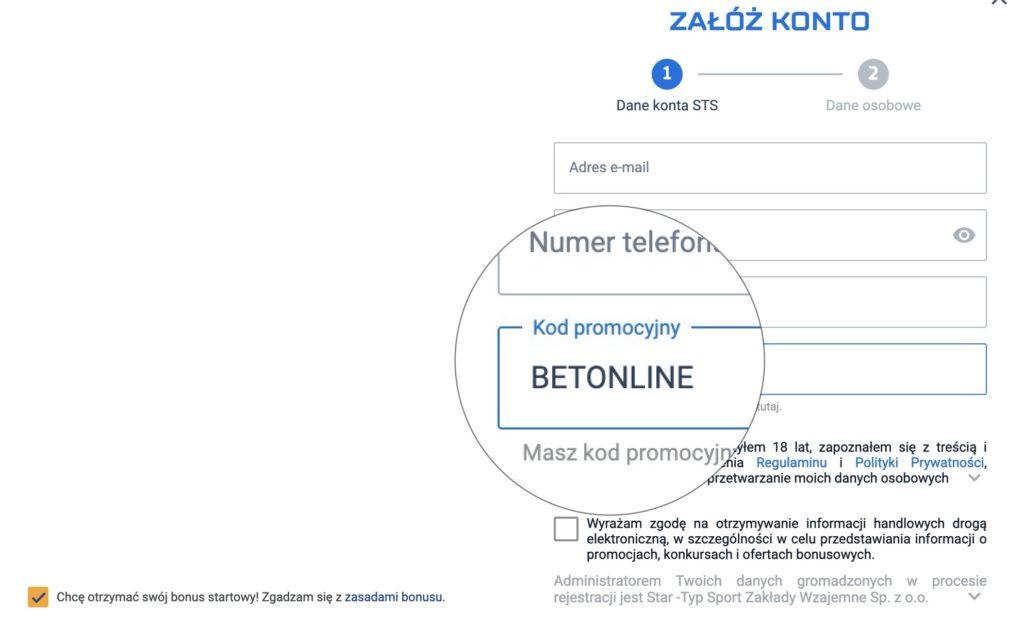 STS bonus bez depozytu 2020. Jak dostać 29 PLN bez wpłaty od bukmachera?