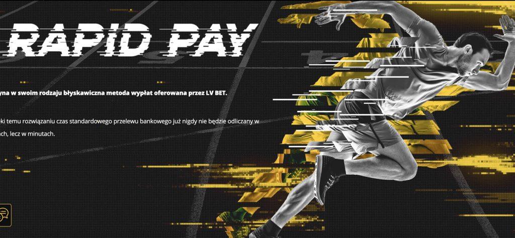 Rapid Pay - szybkie wypłaty wygranych w LvBET