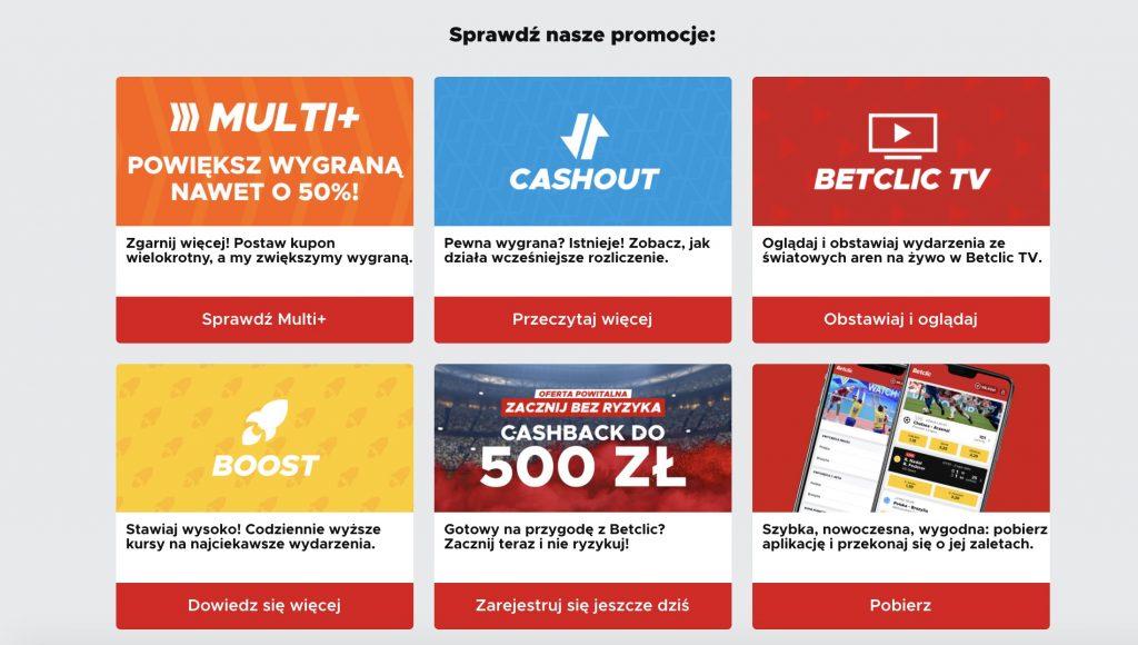 Promocje w Betclic Polska