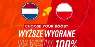 Holandia - Polska i wygrane wyższe o 100% w Betclic!