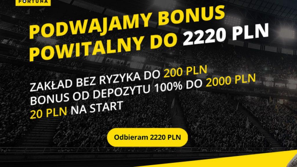 Fortuna bonus na start 2021