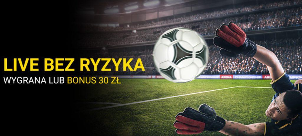Obstawianie Ligi Mistrzów z bonusem. Fortuna daje 30 PLN na Live!