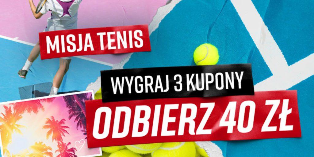 Typy na tenis z bonusem 40 PLN w Betclic!