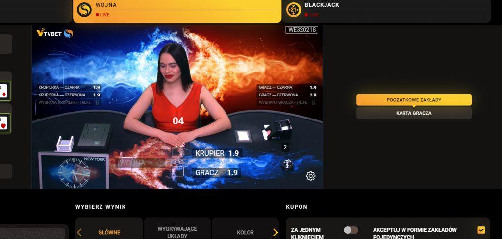 Karty online w ofercie LV BET. Poker, wojna i blackjack!